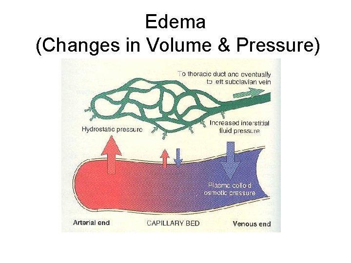 Edema (Changes in Volume & Pressure)
