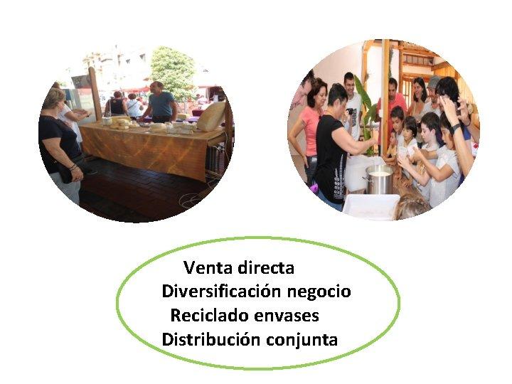 Venta directa Diversificación negocio Ven Reciclado envases Distribución conjunta