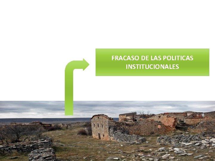 FRACASO DE LAS POLITICAS INSTITUCIONALES