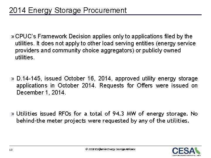 2014 Energy Storage Procurement » CPUC's Framework Decision applies only to applications filed by