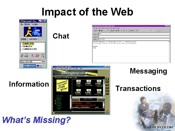 Impact of the Web Chat Messaging Information What's Missing? Transactions