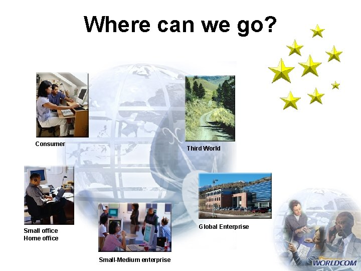 Where can we go? Consumer Third World Global Enterprise Small office Home office Small-Medium