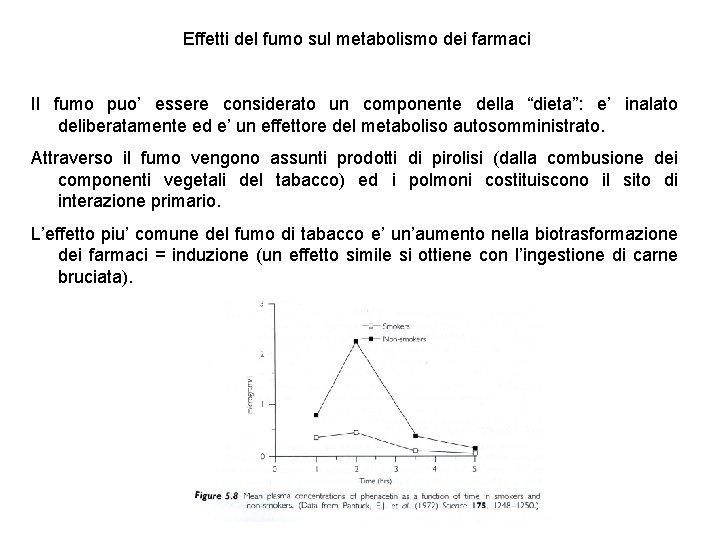 Effetti del fumo sul metabolismo dei farmaci Il fumo puo' essere considerato un componente