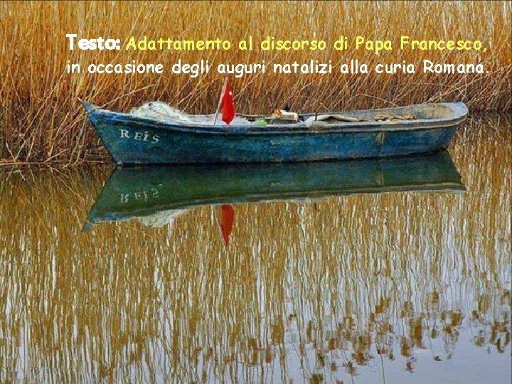 Testo: Adattamento al discorso di Papa Francesco, in occasione degli auguri natalizi alla curia
