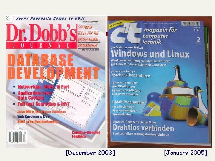 [December 2003] [January 2005]