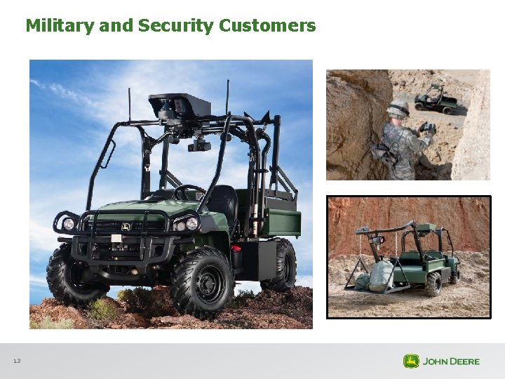 Military and Security Customers 13