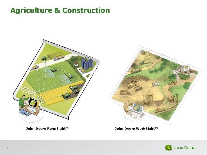 Agriculture & Construction John Deere Farm. Sight™ 9 John Deere Work. Sight™