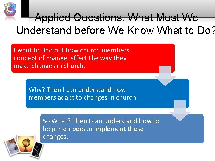 Applied Questions: What Must We Understand before We Know What to Do? I want