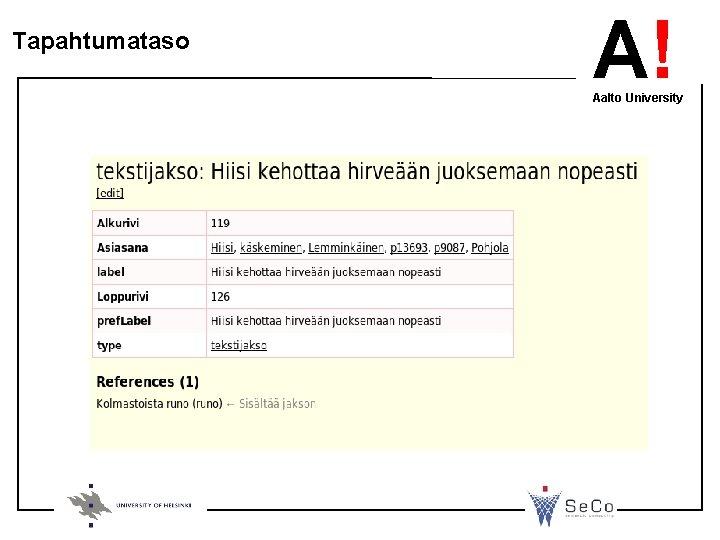 Tapahtumataso A! Aalto University