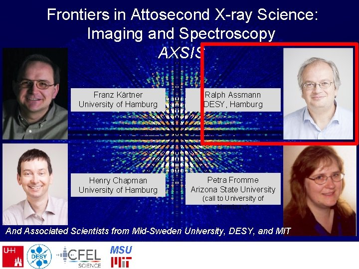 Frontiers in Attosecond X-ray Science: Imaging and Spectroscopy AXSIS Franz Kärtner University of