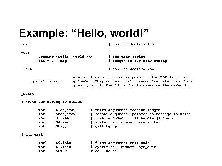 "Example: ""Hello, world!"""