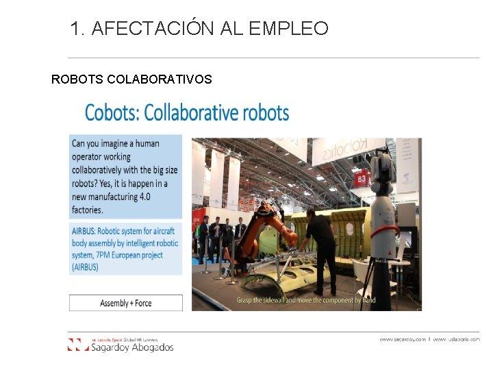 1. AFECTACIÓN AL EMPLEO ROBOTS COLABORATIVOS