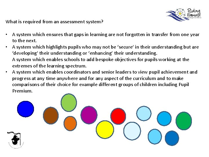 What is required from an assessment system? • A system which ensures that gaps