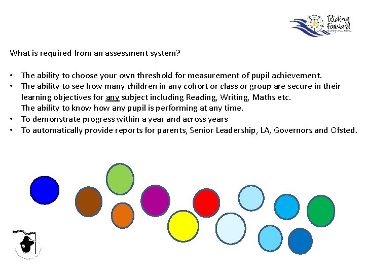 What is required from an assessment system? • The ability to choose your own