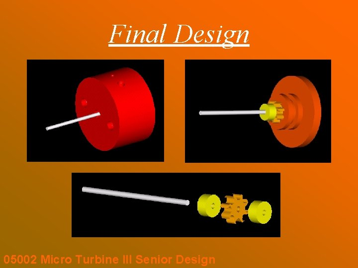 Final Design 05002 Micro Turbine III Senior Design