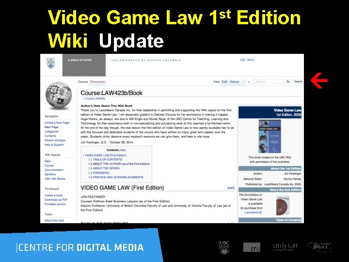 Video Game Law 1 st Edition Wiki Update