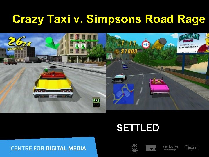 Crazy Taxi v. Simpsons Road Rage SETTLED