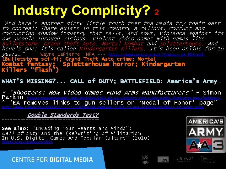 """Industry Complicity? 2 """"And here's another dirty little truth that the media try their"""