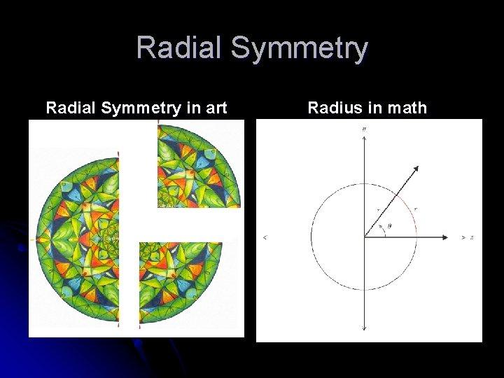 Radial Symmetry in art Radius in math