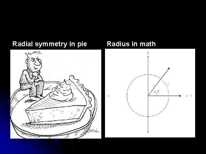 Radial symmetry in pie Radius in math