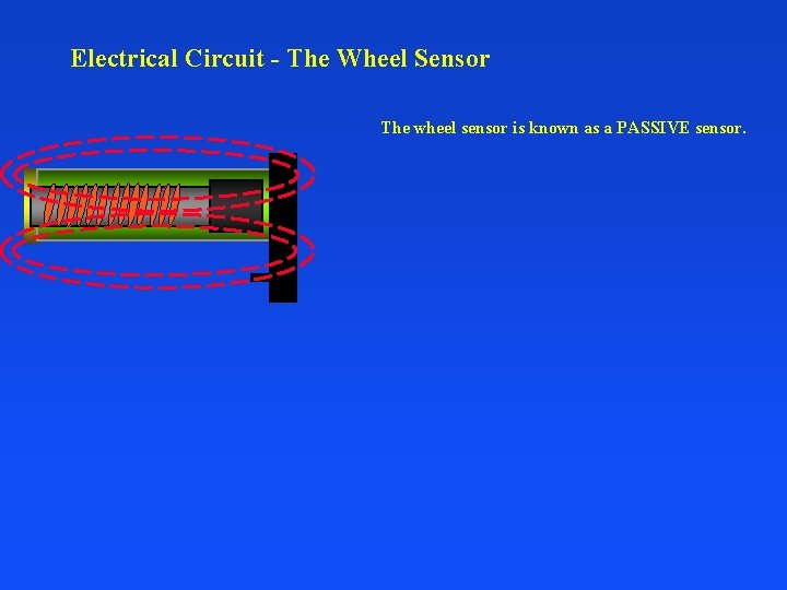 Electrical Circuit - The Wheel Sensor The wheel sensor is known as a PASSIVE