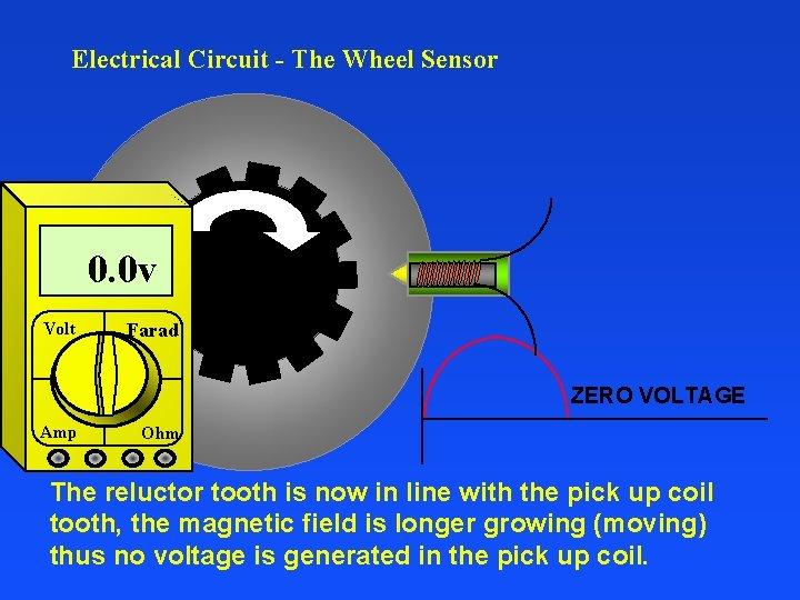 Electrical Circuit - The Wheel Sensor 0. 0 v Volt Farad ZERO VOLTAGE Amp