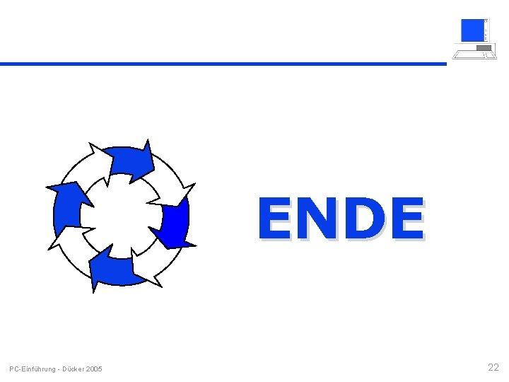 ENDE PC-Einführung - Dücker 2005 22