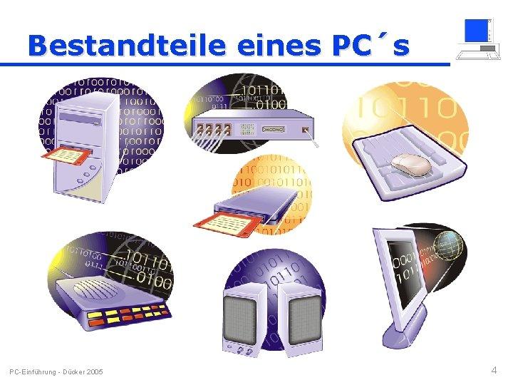Bestandteile eines PC´s PC-Einführung - Dücker 2005 4