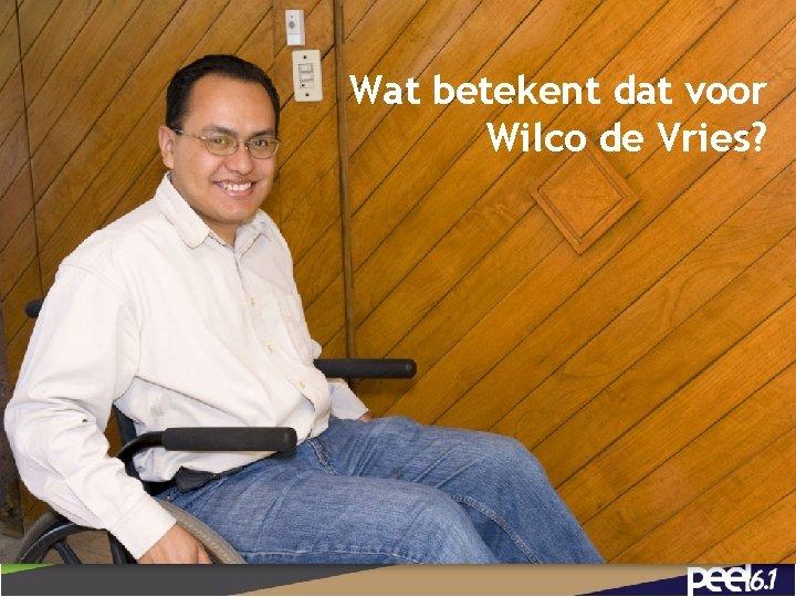 Wat betekent dat voor Wilco de Vries? 13