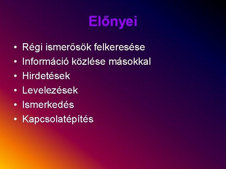 ismerkedés hirdetések)