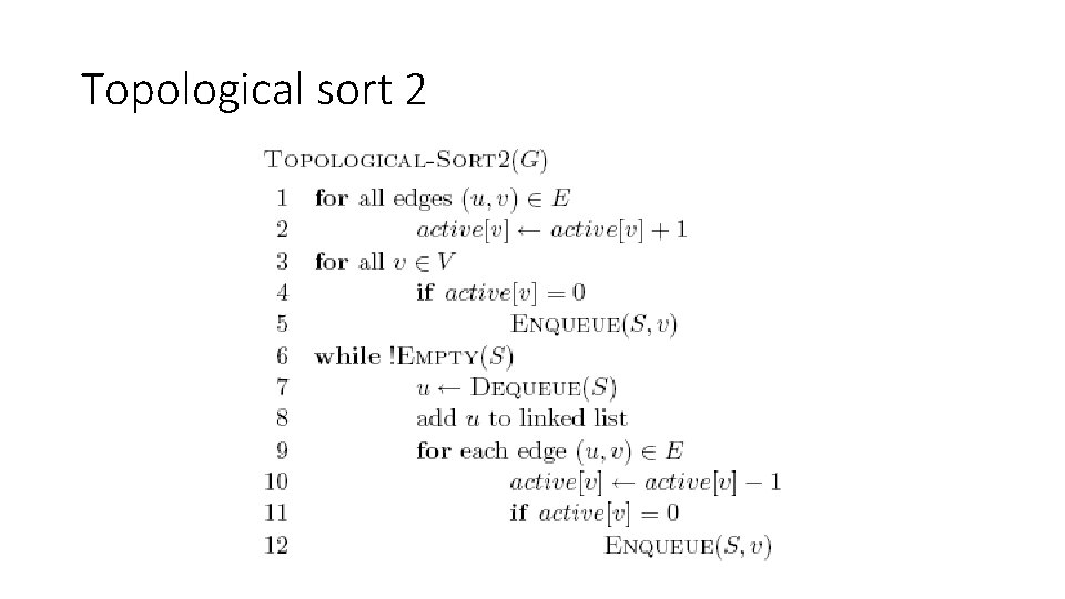 Topological sort 2