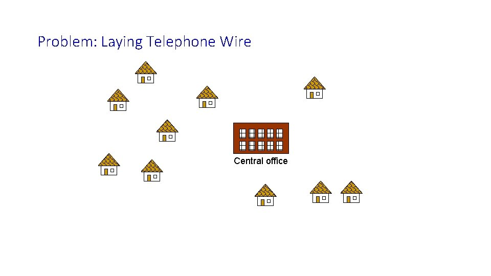 Problem: Laying Telephone Wire Central office
