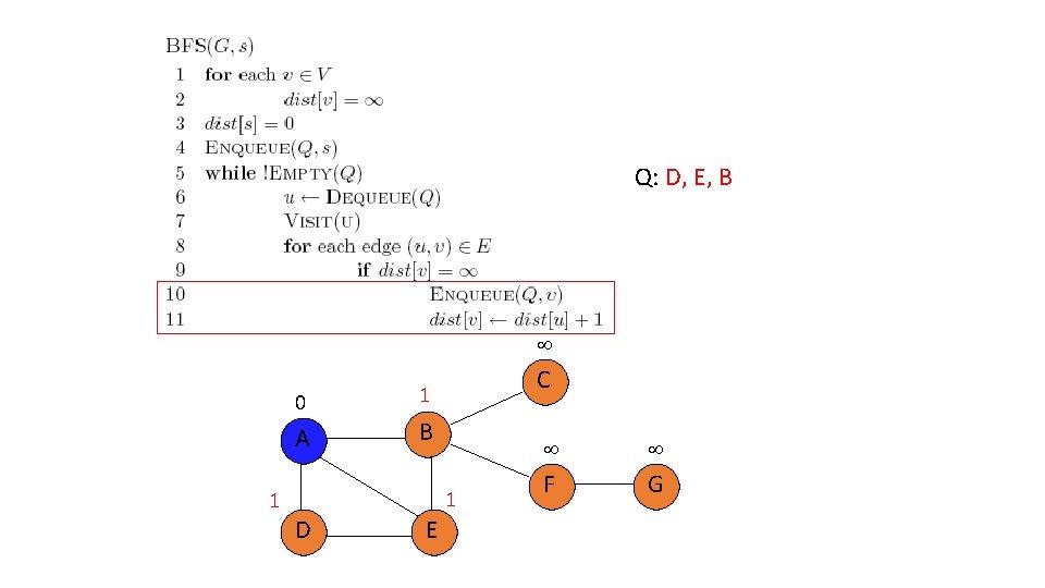 Q: D, E, B 0 A 1 C 1 B 1 D E F