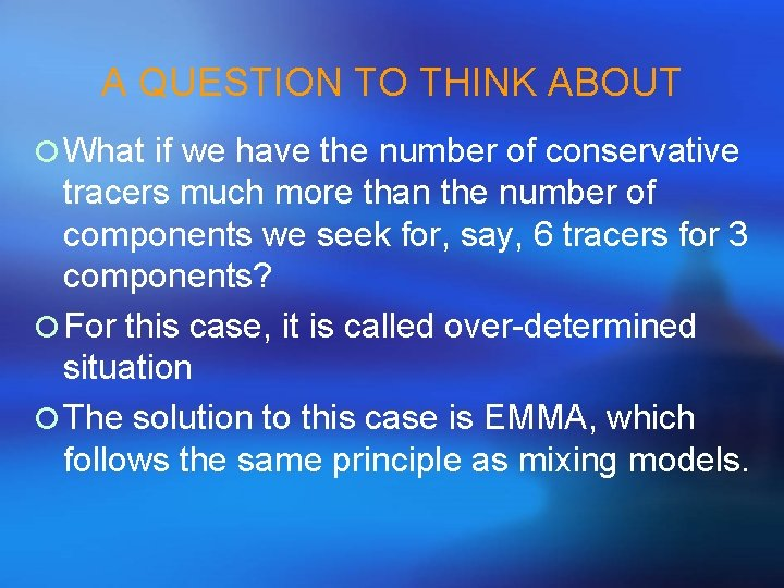 A QUESTION TO THINK ABOUT ¡ What if we have the number of conservative