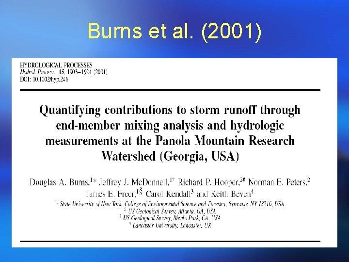 Burns et al. (2001)