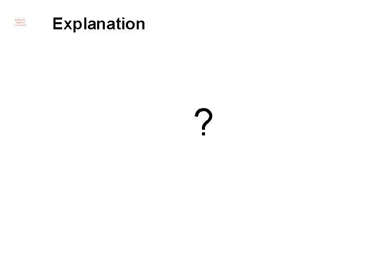 Explanation ?