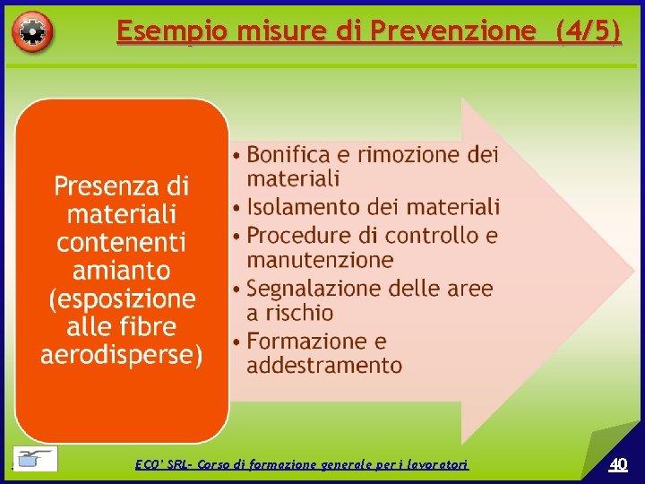 Esempio misure di Prevenzione (4/5) © EPC srl ECO' SRL- Corso di formazione generale