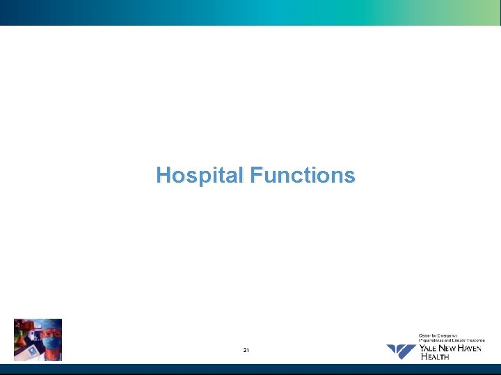 Hospital Functions 21