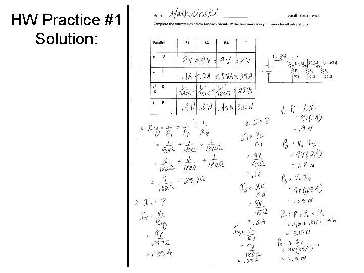 HW Practice #1 Solution:
