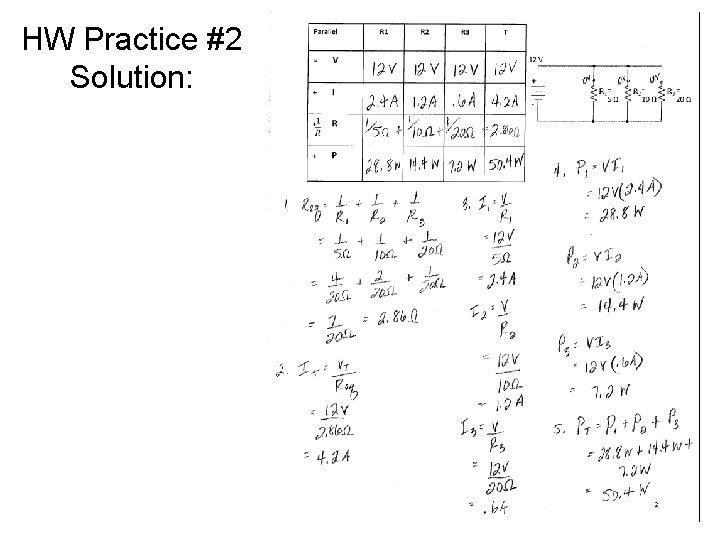 HW Practice #2 Solution: