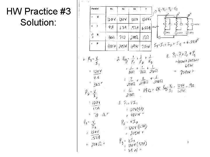 HW Practice #3 Solution: