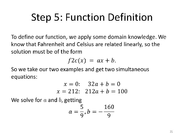 Step 5: Function Definition • 21