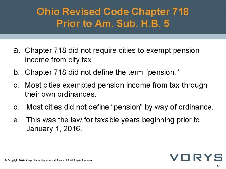 Ohio Revised Code Chapter 718 Prior to Am. Sub. H. B. 5 a. Chapter