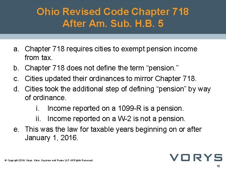 Ohio Revised Code Chapter 718 After Am. Sub. H. B. 5 a. Chapter 718