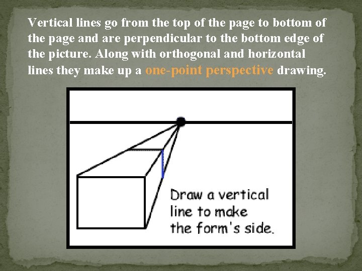 Vertical lines go from the top of the page to bottom of the page