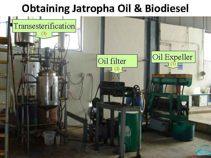Obtaining Jatropha Oil & Biodiesel B Transesterification (3) Oil filter (2) Pakistan State Oil