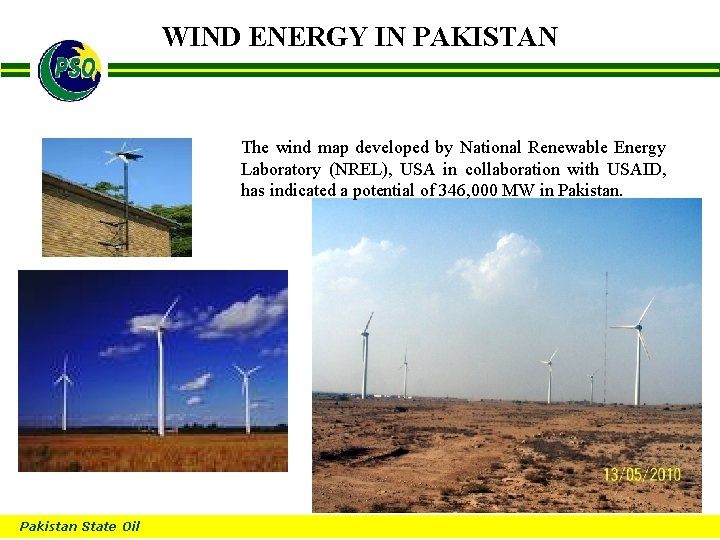 WIND ENERGY IN PAKISTAN B The wind map developed by National Renewable Energy Laboratory
