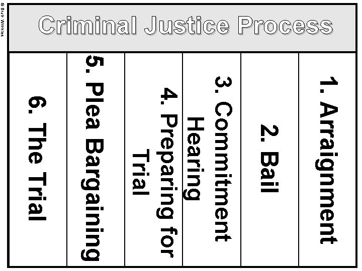 © Brain Wrinkles Criminal Justice Process 1. Arraignment 2. Bail 3. Commitment Hearing 4.