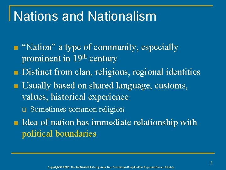 """Nations and Nationalism n n n """"Nation"""" a type of community, especially prominent in"""