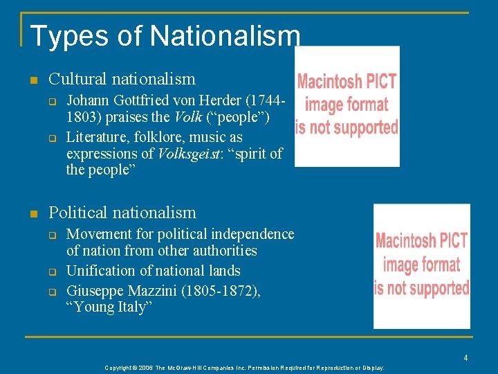 Types of Nationalism n Cultural nationalism q q n Johann Gottfried von Herder (17441803)